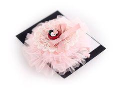 pink tulle bow hairclip Tulle Headband, Tulle Bows, Pink Tulle, Baby Headbands, Kids Jewelry, Baby Girls, Hair Bows, Hair Clips, Ribbon