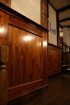 wood wainscot bar. wood molding
