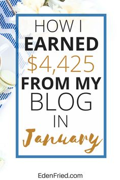 Read this month's blog income report!