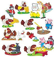 Little Red Hen theme for the pre-k, preschool or kindergarten classroom. Printable literacy and math activities to make learning fun.