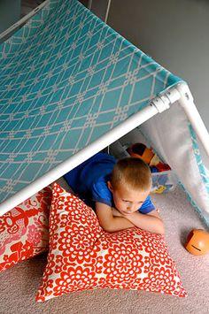 Carpa Chalet, punta juguete para los niños