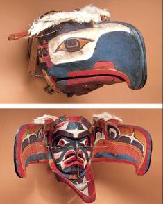 Kwakiutl Transformation Masks | transformation mask kwakiutl 19th century kwakiutl kwakiutl kwakiutl ...