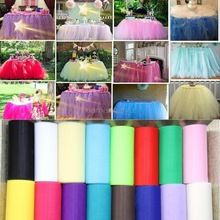 25 Meter/stuk 6 inch Tulle Rolls Organza Gaas Element Bruiloft Decoratie Tissue Tulle Papier Roll Spool Craft Party Decor 7ZSH759(China (Mainland))
