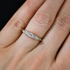 Antique Five Stone Diamond Ring - 10-1-5892 - Lang Antiques