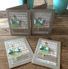Julie Kettlewell - Stampin Up UK Independent Demonstrator - Order products 24/7: Peaceful Pines Training cards