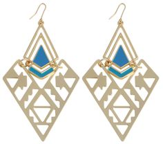Bijou Brigitte  Drop Earrings - Blue of Graphic