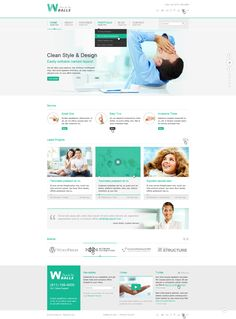 clean corporate web design - #web #design