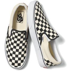 Checkerboard Black and White (185 BRL) ❤ liked on Polyvore featuring shoes, sneakers, vans, flats, black and white shoes, elastic flats, black and white checkered shoes, black and white flats and low profile sneakers