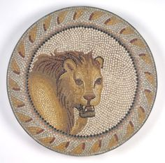 Scenes from Tree of Paradise - Jewish Roman Mosaics from Tunisia: Roman Mosaic - Mosaic of a Lion in a Roundel