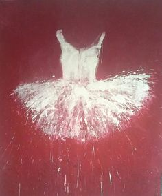 Available for sale from Galleria Ca' d'Oro, Ewa Bathelier, White and Red Tutu (2014), Acrylic on Canvas, 239 × 200 cm, 94.1 x 78.7 in