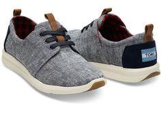 Ribbon Chix TOMS Del Rey Sneaker ~ Blue Chambray