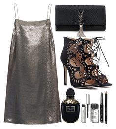 """""""Get Glam"""" by designbecky ❤ liked on Polyvore featuring Yves Saint Laurent, Alexander McQueen and Bobbi Brown Cosmetics"""