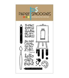 Paper Smooches Clear stamps I Heart Art