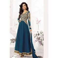Rama Green Comfortable New Fancy Anarkali Suits