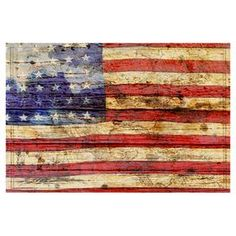 Enjoy a touch of Americana with this rustic wall decor, featuring a flag motif printed on reclaimed barn wood. Display it in your parlor for a patriotic pop, or group it with other artwork for a gallery-style display. Comes with a certificate of authenticity.   Product: Wall decorConstruction Material: Reclaimed barn wood and pine woodFeatures: Flag motifLimited open edition with certificate of authenticity by the artistMade in the USAHanging hardware includedReady to hang Cleaning and ...