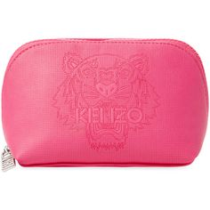 KENZO Women's Small Cosmetic Pouch - Pink (2 265 UAH) ❤ liked on Polyvore featuring beauty products, beauty accessories, bags & cases, bags, makeup, pink and kenzo