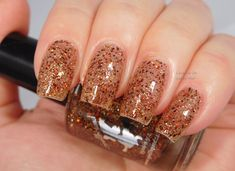 Gingerbread Latte *with optional scent* - custom red gold copper bronze glitter topper nail polish - - Gingerbread Latte *with optional scent* - custom red gold copper bronze glitter topper nail polish Best Nail Art Designs, Colorful Nail Designs, Colorful Nails, Sparkle Nails, Glitter Nails, Glitter Bomb, Holiday Nails, Christmas Nails, Cute Nails
