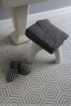 popham tiles | hex target in colour way dove + milk