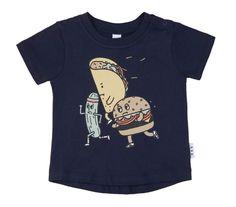 Huxbaby Tee T-shirt Navy Blue Fast Food