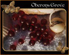 4mm 30 runde Perlen frosted granatrot von OberonsGrove auf Etsy