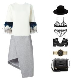 """Back to Work"" by duciaxoxo ❤ liked on Polyvore featuring Thierry Mugler, Ilariusss, Dsquared2, Stuart Weitzman, Marc by Marc Jacobs and Givenchy"