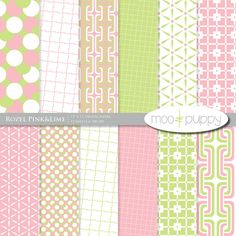Rozel Pink digital Scrapbook Paper by Moo and Puppy