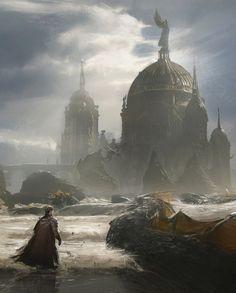 fantasyartwatch:  Nagas Sea Serpents by Efflam Mercier