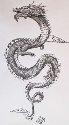 Tatto Ideas 2017 - Ancient japanese dragon on Behance. Tatto Ideas & Trends 2017 - DISCOVER Ancient japanese dragon on Behance Discovred by : A L I C E Japanese Dragon Tattoos, Japanese Sleeve Tattoos, Chinese Dragon Drawing, Chinese Tattoos, Japanese Tattoo Art, Japanese Tattoo Designs, Japanese Tattoos For Women, Japanese Tattoo Samurai, Japanese Forearm Tattoo