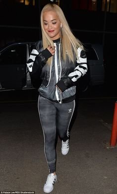 Hot right now: Rita Ora, 24, brought her brave and unstoppable attitude to her outfit on Friday, as she attended the launch of her new Adidas collection at JD Sports in central London