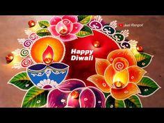 Happy Diwali Rangoli, Easy Rangoli Designs Diwali, Rangoli Designs Latest, Simple Rangoli Designs Images, Rangoli Designs Flower, Free Hand Rangoli Design, Rangoli Border Designs, Small Rangoli Design, Rangoli Patterns