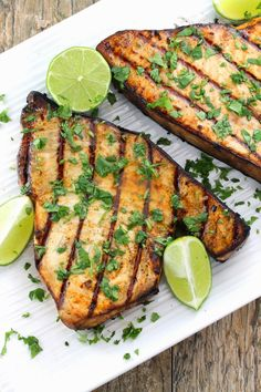 The Stay At Home Chef: Cilantro-Lime Grilled Swordfish