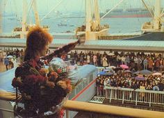 Ziggy arrives in Yokohama, Japan, 5th of April, 1973, on the SS Oronsay