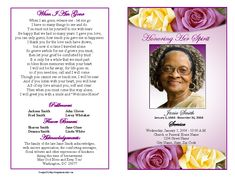 73 best printable funeral program templates images funeral cards