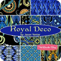Royal Deco Fat Quarter Bundle  Jason Yenter for In the Beginning Fabrics