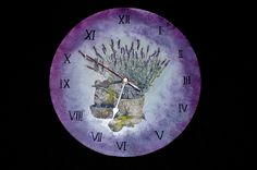 Decoupage hodiny s levandulí Decoupage, Clock, Wall, Home Decor, Watch, Homemade Home Decor, Clocks, Decoration Home, The Hours