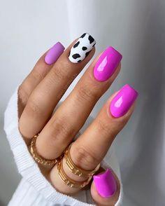 Perfect Nails, Gorgeous Nails, Stylish Nails, Trendy Nails, Shellac Nails, Acrylic Nails, Cow Nails, Lavender Nails, Modern Nails