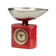 Typhoon Vintage Kitchen Traditional Kitchen Scales - Red