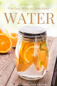 5 Easy Ways to Drink More Water </br>(and make water delicious) Healthy Drinks, Healthy Eating, Healthy Recipes, Smoothie Drinks, Smoothies, Clean Granola Bars, Infused Water Recipes, Drink More Water, Clean Eating Dinner