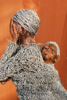Wire sculpture by Artist Samuel Musharu- South Africa Black Art, Black And White, South African Artists, African Diaspora, African American Art, Sculpture Art, Wire Sculptures, Wire Art, Artist Art