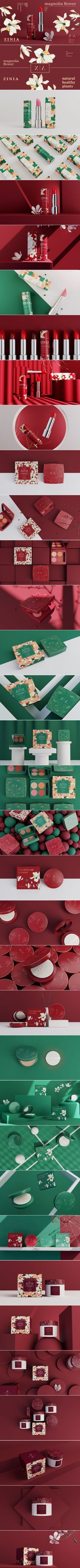 ZINIA Cosmetics Branding and Packaging by Hellocean | Fivestar Branding Agency – Design and Branding Agency & Curated Inspiration Gallery  #cosmetics #packaging #packagedesign #packaginginspiration #design #branding #behance #dribbble #pinterest #fivestarbranding