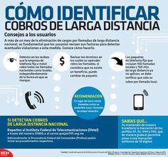 #Infografia Cómo identificar cobros de #LargaDistancia en #Mexico vía @candidman...  A más de un mes de la eliminación de cargos por llamadas de larga distancia nacional, es fundamental que los usuarios revisen sus facturas para detectar eventuales violaciones a esta medida.  Conoce cómo hacerlo.
