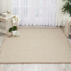 """Kathy Ireland Home Gallery River Brook Hand-Tufted Taupe/Ivory Area Rug Rug Size: 3'9"""" x 5'9"""""""