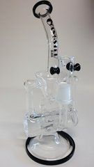 10'' Double Hammerhead Recycler by Gangster Glass