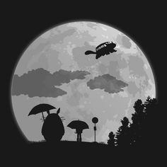 MOON LIGHT BUS T-Shirt $12 My Neighbor Totoro tee at Once Upon a Tee!