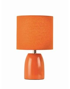 Opal Burnt Orange Table Lamp with Shade