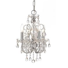 Imperial Collection has a beautiful, timeless detailing with the glass column and crystal accents. This collection comes in Chrome (for transitional settings) and in Gold (for traditionalists).