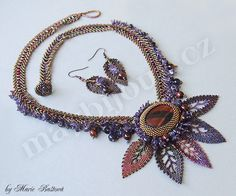 necklace and earring set by Majka