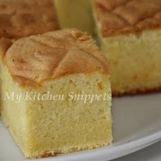 Japanese Sponge Cake! yum! in japan I'd eat this for morning and afternoon tea while on holidays there!