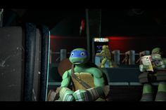 Look at Raph's eyes, he watches Space Heroes with Leo--omigosh Leo's face omigosh my baby ❤️
