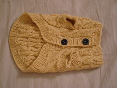 Pattern was designed in order to knit custom dog sweaters for the Small Paws Rescue fundraising auctions.